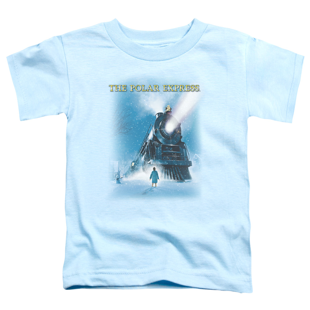 Polar Express/Big Train S/S Toddler Tee Light Blue   Wbm371