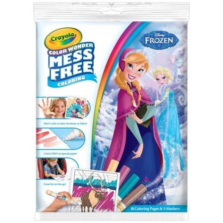 Crayola Disney Frozen Mess Free Color Wonder Coloring Pages & Markers