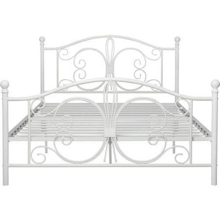 dorel home products bombay white metal bed full walmartcom