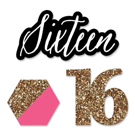 Chic 16th Birthday - DIY Shaped Party Cut-Outs - 24 (Things To Ask For Your 16th Birthday Girl)