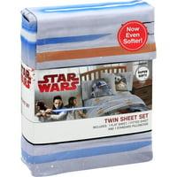 Star Wars R2-D2 & BB-8 Robots 3 Piece Microfiber Sheet Set Twin Bed Sheets