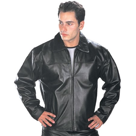 Via Spiga Leather Coat - USA Leather Mens Black Leather Jacket