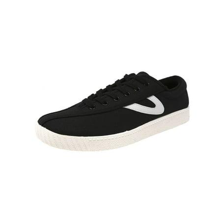 Tretorn Women's Nylite Plus Canvas Black / White Fashion Sneaker - 9.5M - Black White Jordans