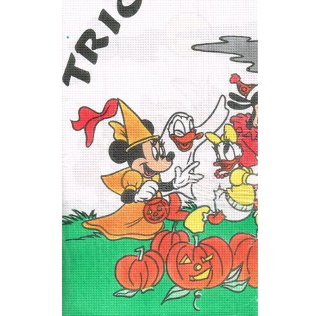 Mickey Mouse Halloween Party Cartoon (Mickey Mouse Vintage 'Halloween Treat' Paper Table Cover)