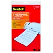 Scotch Legal Size Laminating Pouch, 8.9 x 14.4 in. - 3 Mil Thickness, Clear, Pack - 20