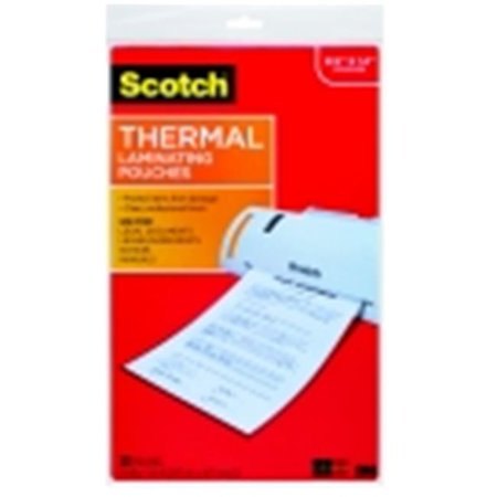 Scotch Legal Size Laminating Pouch, 8.9 x 14.4 in. - 3 Mil Thickness, Clear, Pack - (Clear Legal Pouch Laminates)