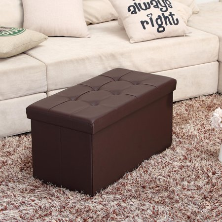 Surprising Mllieroo 30 L Faux Leather Folding Storage Ottoman Bench Pabps2019 Chair Design Images Pabps2019Com