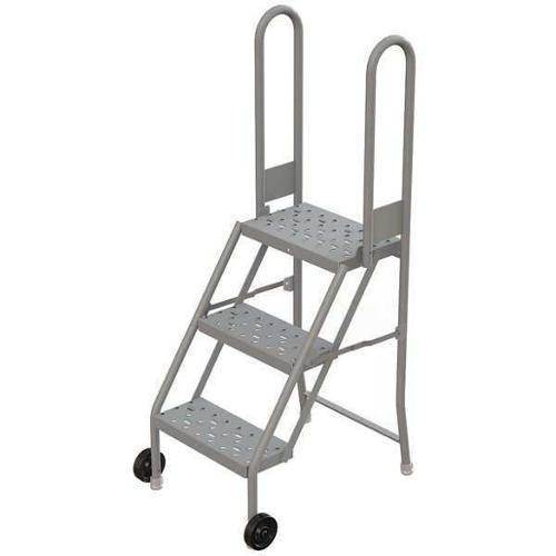 Tri-Arc Perforated Tilt and Roll Ladder, Gray KDMF103166
