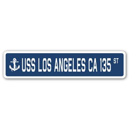 USS LOS ANGELES CA 135 Street Sign us navy ship veteran sailor
