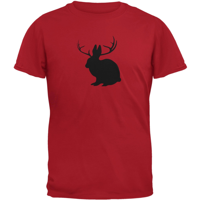 Jackalope Red Adult T-Shirt