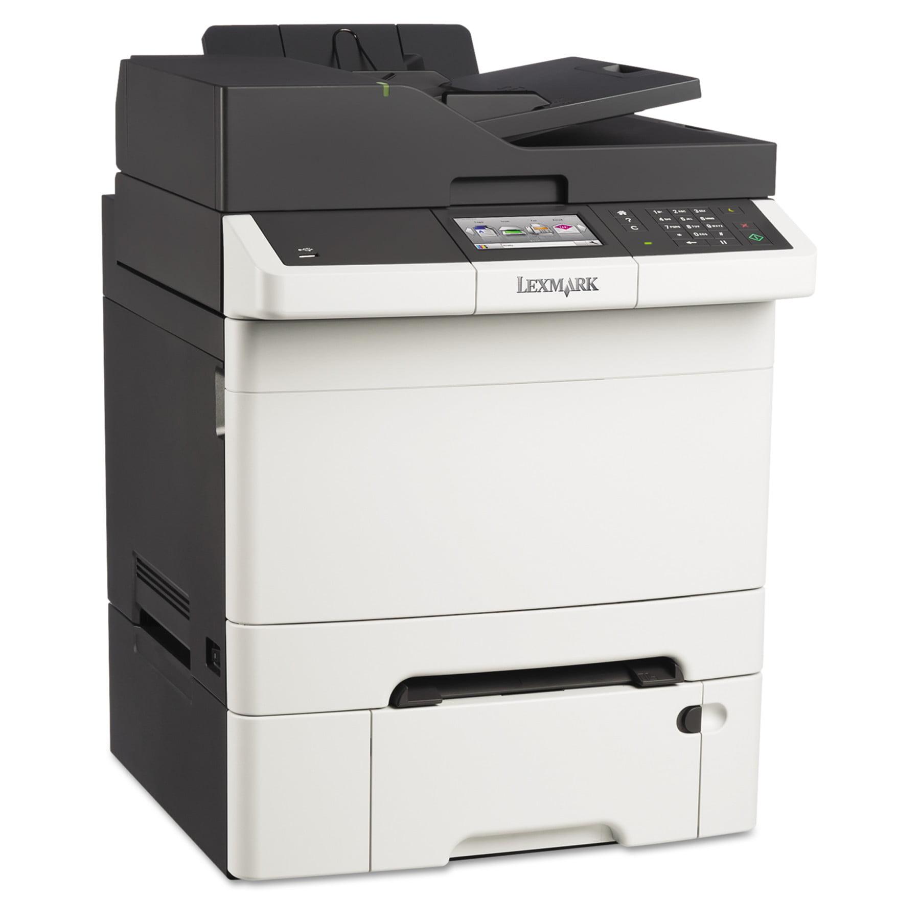 Lexmark CX410dte Multifunction Color Laser Printer, Copy/Fax/Print/Scan