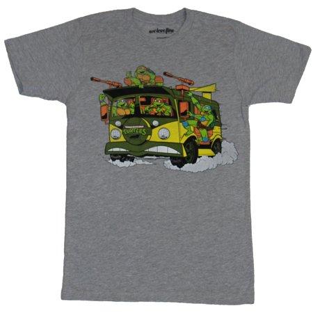 Teenage Mutant Ninja Turtles Mens T-Shirt - Cartoon Boys Riding Van