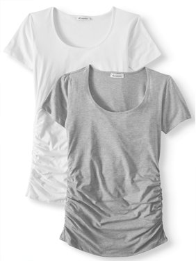 6487c699d9a Product Image Maternity Scoop Neck Tee 2 Pack - Available in Plus Sizes