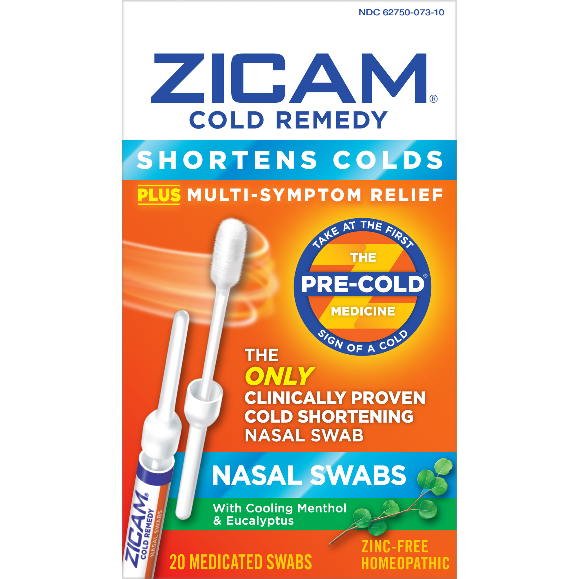 Zicam Cold Remedy Nasal Swab, 20 Ct