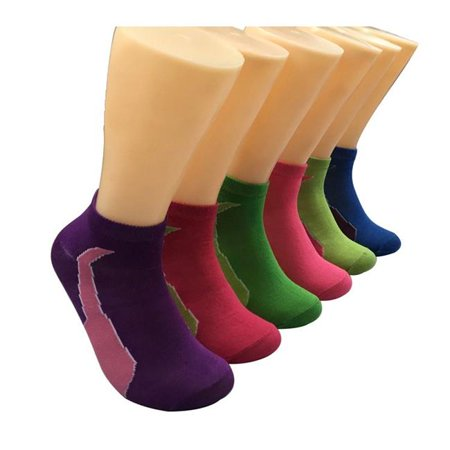 90f913f8159 Eros AV13BLC-EBAH665 Womens Low Cut Novelty Socks - Two-Tone Print& ...