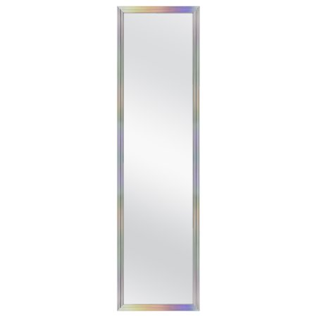 Mainstays 13.38x49.38 Inch Door Mirror, Iridescent