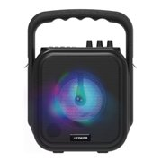 Fisher Mini Wireless Stereo Speaker System, Portable, Bluetooth, Mic Input - Black