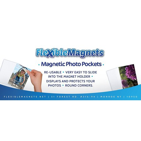 10 Pack Magnetic Photo Picture Frames - White Magnetic Photo Pockets - Holds 4x6 Photos (Photo Frame Packs)