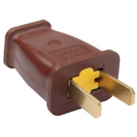 15A 125V Brown Residential Non-Polarized Plug 2 Pole 2 Wire Only One ...