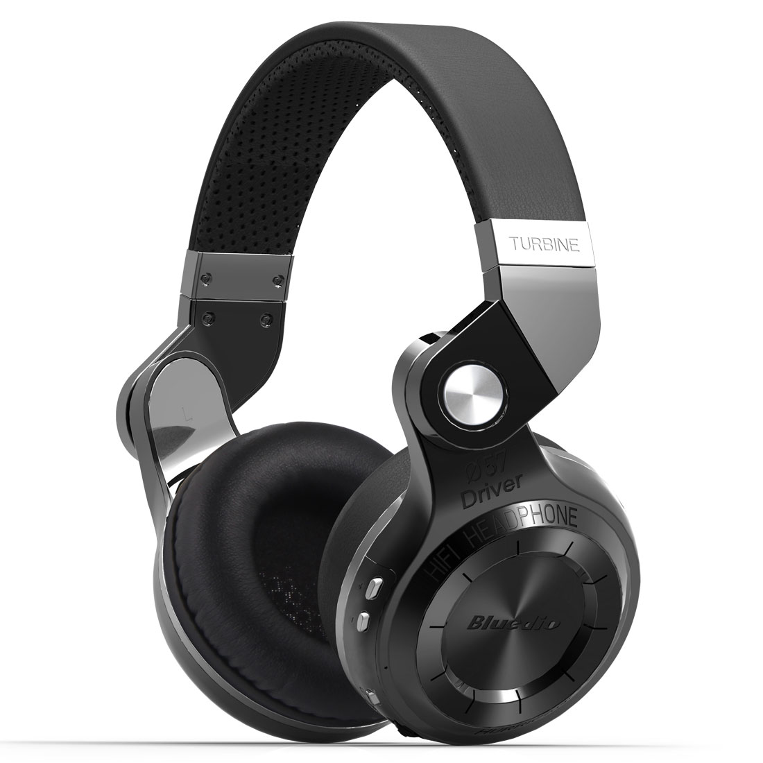 Bluedio T2S Bluetooth Headphones Wireless Headsets Foldable Microphone (Black)