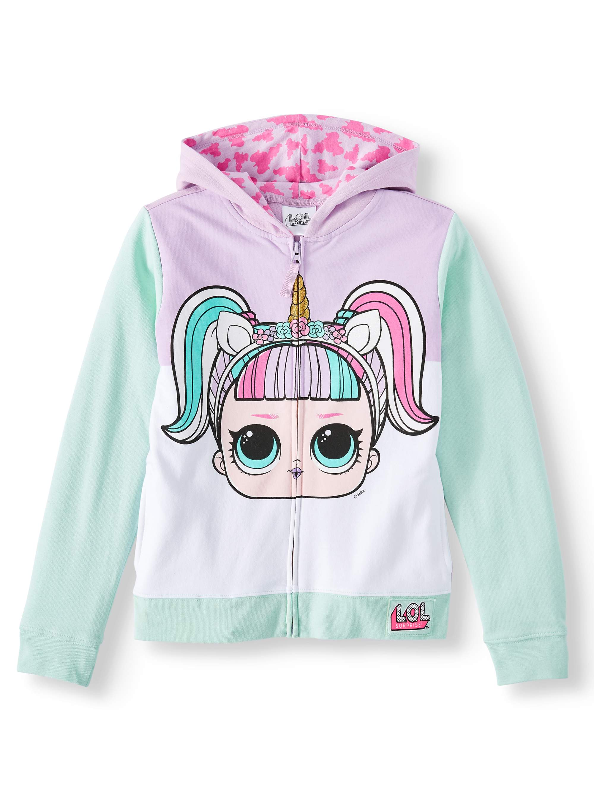 LOL Surprise doll accessories outfits clothes pink /& purple hoodie shirt