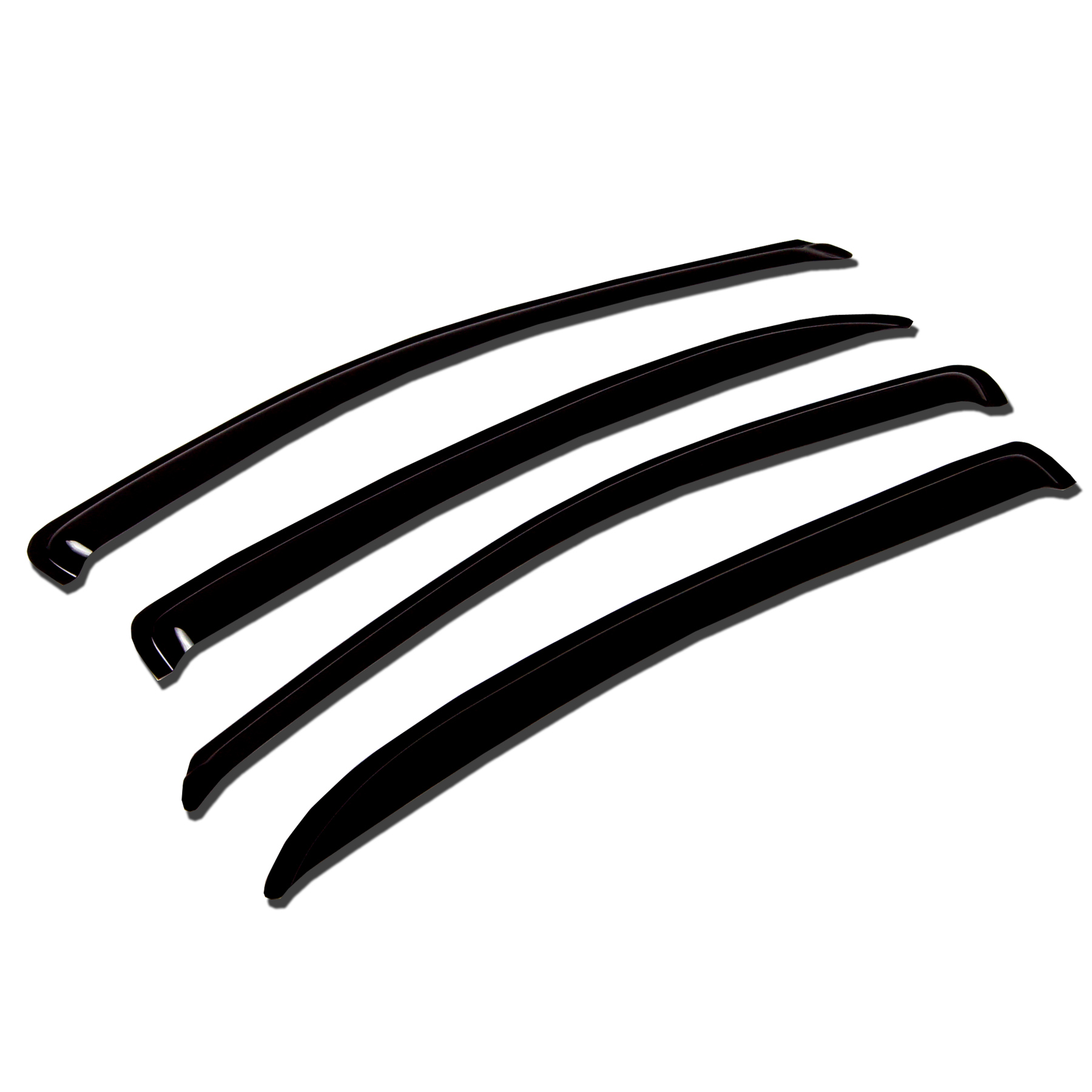 TuningPros WV-356 Window Visor For 2007-2012 Nissan Sentra - Outside Mount Deflector Rain Guard Dark Smoke 4 Pcs Set Nissan Sentra 07 08 09 10 11 12