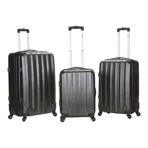 Rockland Luggage 3-Piece Metallic ABS Spinning Luggage Set