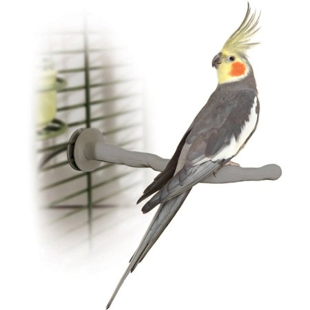 K&H Pet Products Thermo-Perch Bird Perch, Small, Gray