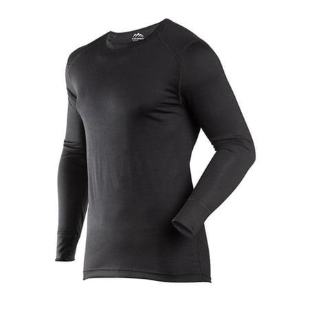 Coldpruf Classic Series Merino Wool Thermal Underwear Shirt, Black