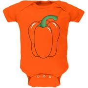 Halloween Fruit Vegetable Bell Pepper Costume Soft Baby One Piece Orange 3-6 M