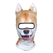 AXBXCX 3D Animal Ears Fleece Thermal Neck Warmer Windproof Hood Cover Face Mask Protection for Ski Snowboard Snowmobile Hallo