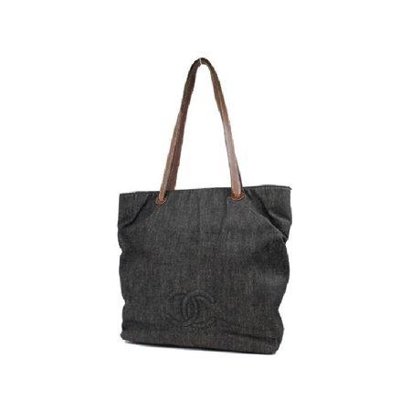 6e6d85462d0a Chanel Denim Cc Tote 213601 Shoulder Bag - Walmart.com