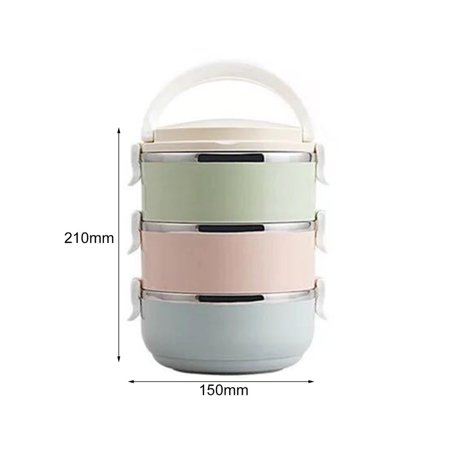 HC-TOP Compact Size Lunch Box Thermal For Food Bento Box Stainless Steel Lunch Box - image 6 de 6