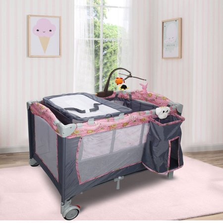 Foldable Baby Crib Playpen Playard Pack Travel Infant ...