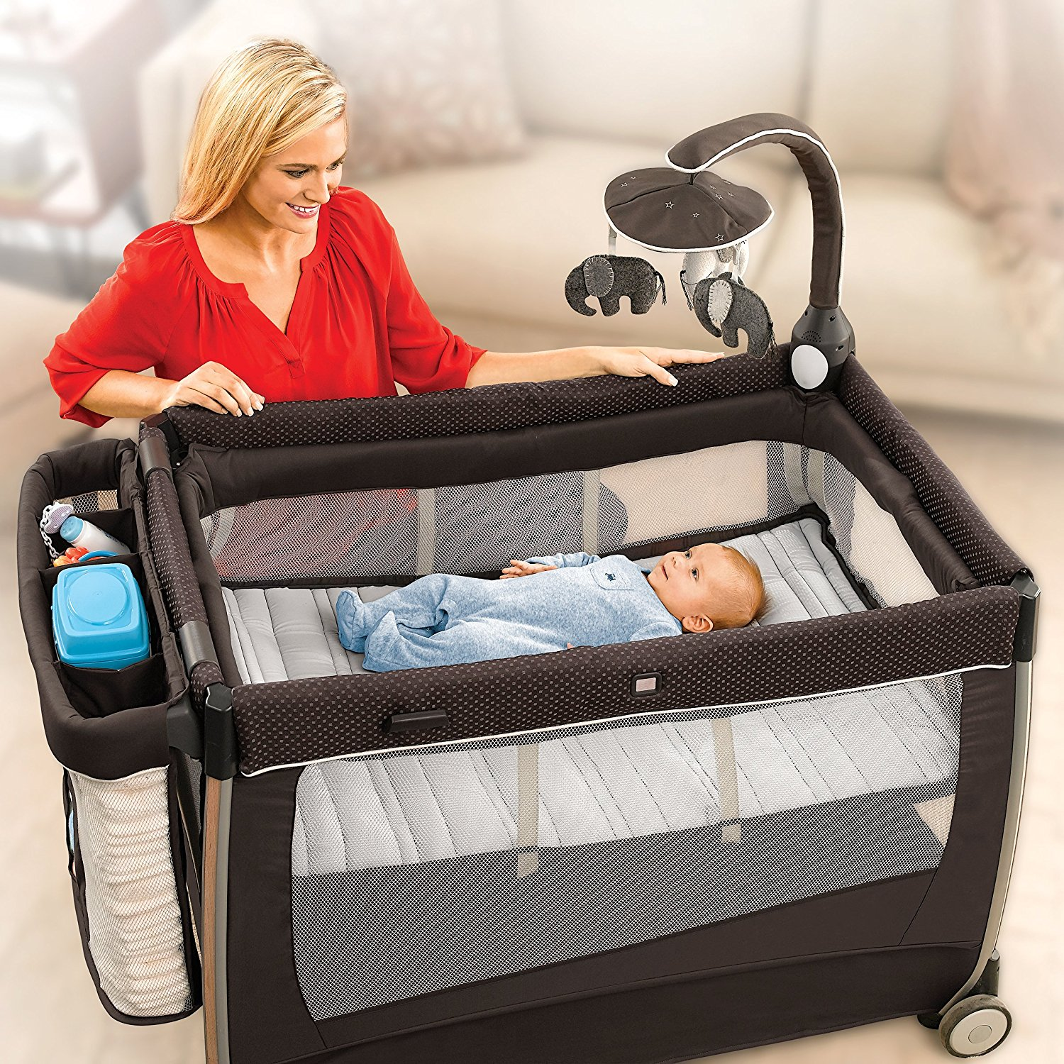 4a832cbeb53c Chicco Lullaby Dream Portable Play Yard w  Bassinet   Changing Table ...