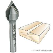 1550  Whiteside Carbide Tipped  V-Groove - 60 - 1/2CD 7/16PL 1/4SH 2FL