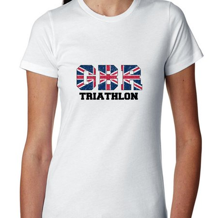 Great Britain Triathlon - Olympic Games - Rio - Flag Women's Cotton (British Triathalon)