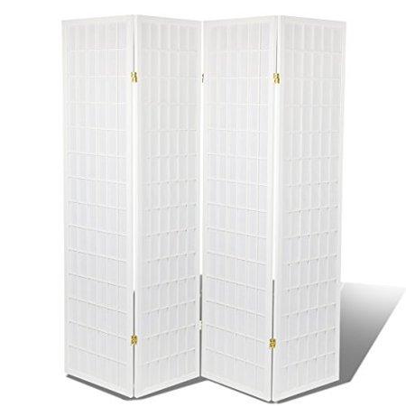 High Quality Oriental Room Divider Hardood Shoji Screen White 4 Panel By Magshion Futon Furniture