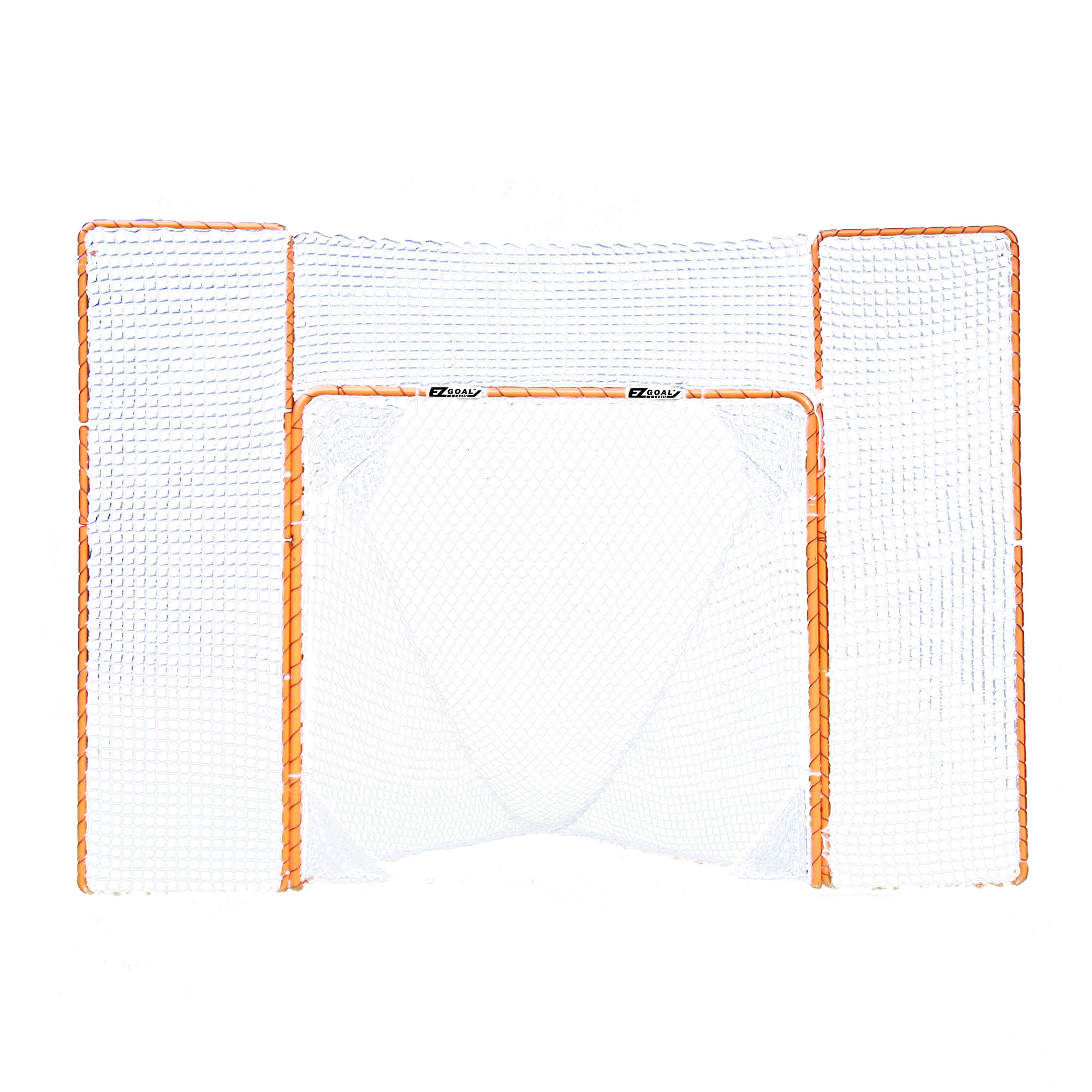 EZGoal Portable Folding Lacrosse Practice Net Goal with Backstop and Targets