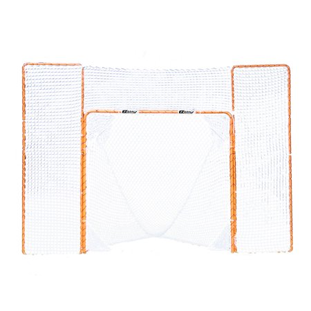 EZGoal Portable Folding Lacrosse Practice Goal with Backstop and Targets - Halloween Lacrosse Practice