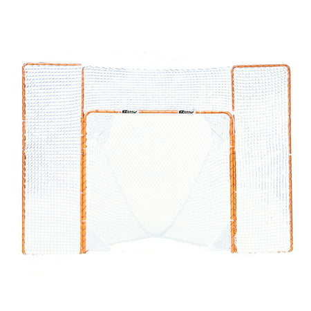 EZGoal Portable Folding Lacrosse Practice Goal with Backstop and