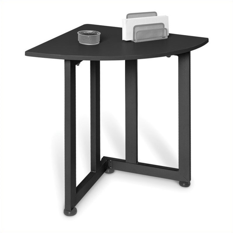 OFM Quarter Round Utility Table in Graphite