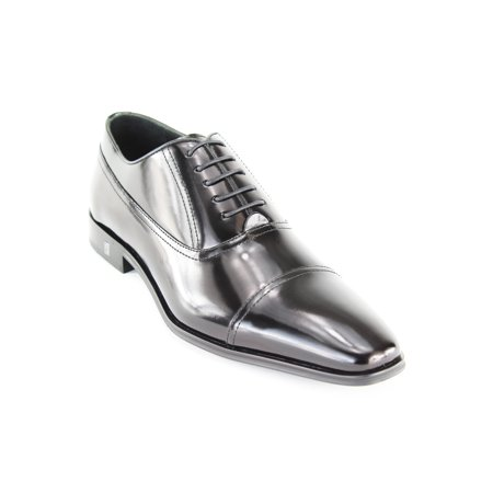 Versace Collection Mens Black Leather Oxfords
