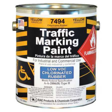 RAE Traffic Zone Marking Paint,Yellow