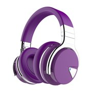 COWIN E7 [Upgraded] Active Noise Cancelling Headphones Wireless Bluetooth Headphones with Mic Deep Bass Headsets Over Ear 30H Playtime - Purple