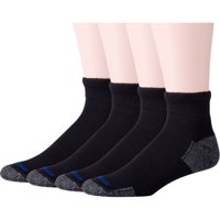 Big Men's Diabetic Nanoglide Quarter Socks with Non-Binding Top Value Pack, 4 Pairs