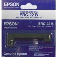6-Pack Genuine Epson (ERC-22B) Black Ribbon Cartridge For: M-180, M-180H, M-181, M-182, M-183, M-183H, M-185, M-190 / 191 / 192 / 195, M-190G / 192G