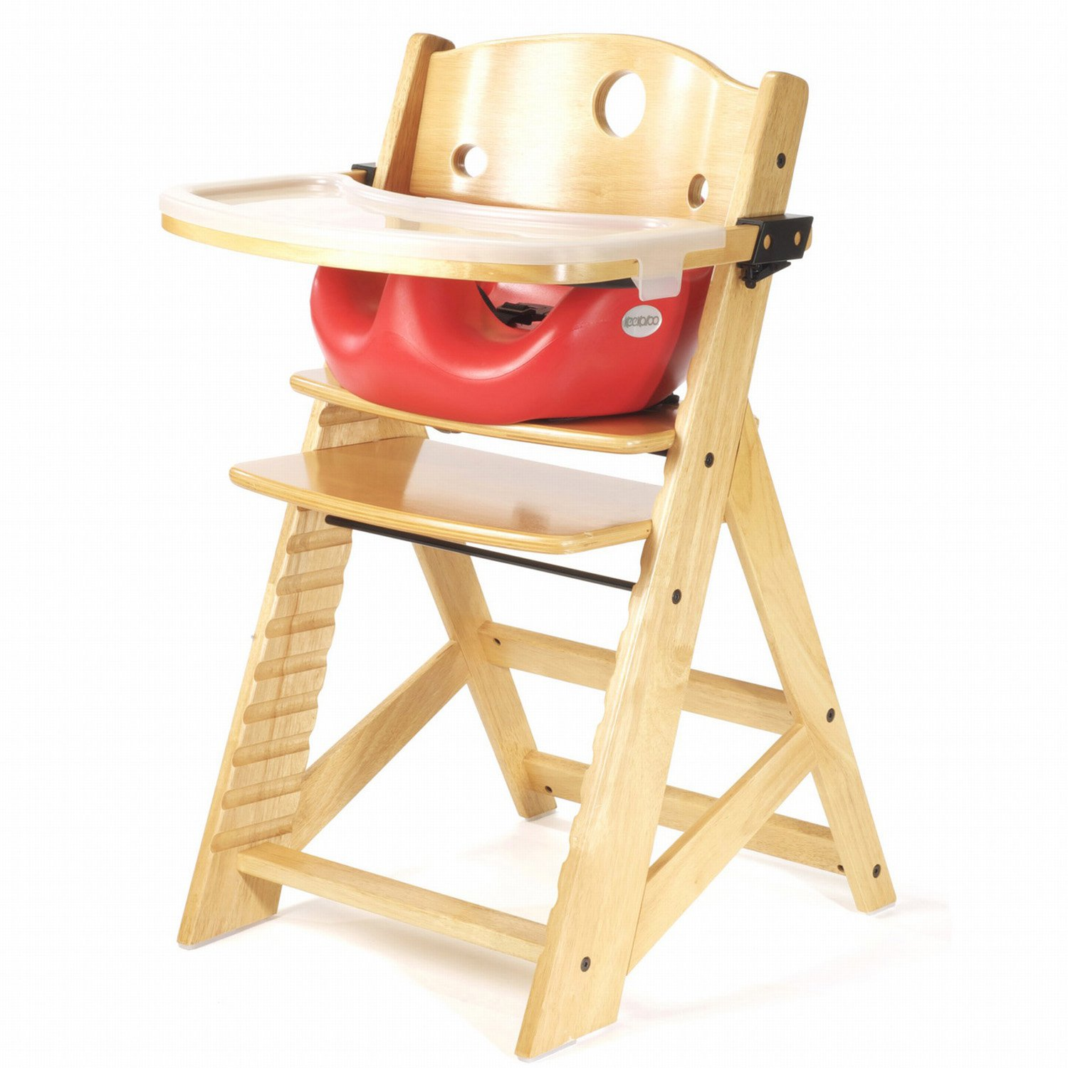 Keekaroo Height Right High Chair with Infant Seat & Tray Cherry by Keekaroo