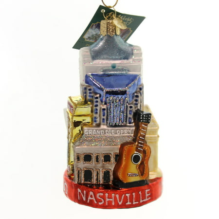Old World Christmas NASHVILLE Glass Music City Grand Ole Opry 20097 - Party City Westchester