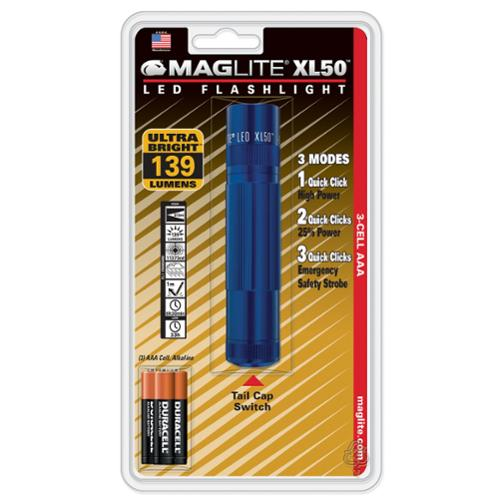 Maglite XL 50 LED 104 Lumens High Power Flashlight - BLUE- XL50 S3116